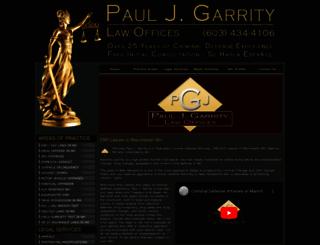 pauljgarritylaw.com screenshot
