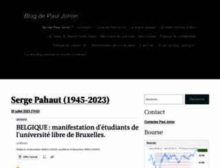 pauljorion.com screenshot