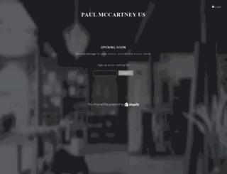 paulmccartney.fanfire.com screenshot