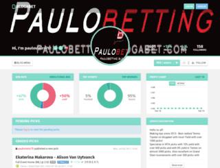 paulobetting.blogabet.com screenshot