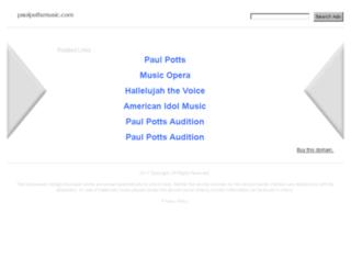 paulpottsmusic.com screenshot