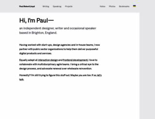 paulrobertlloyd.com screenshot