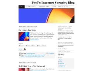 paulsinternetsecurityblog.wordpress.com screenshot