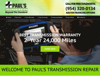 paulstransmissionrepair.com screenshot