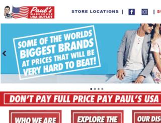 paulswarehouse.com.au screenshot