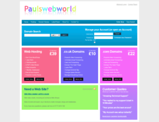 paulswebworld.com screenshot