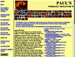 paulswhiskyminiatureworld.nl screenshot