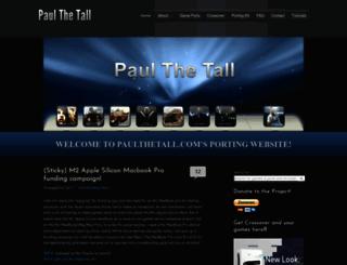 paulthetall.com screenshot