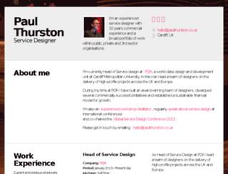 paulthurston.co.uk screenshot