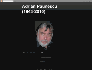 paunescuadrian.blogspot.com screenshot
