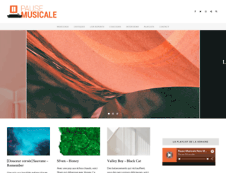 pausemusicale.com screenshot