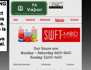 pavapor.com screenshot