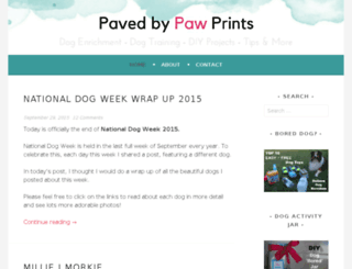 pavedbypawprints.com screenshot