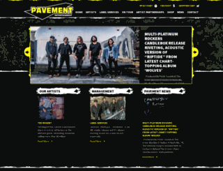 pavementmusic.com screenshot