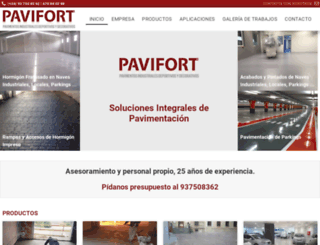 pavifort.com screenshot