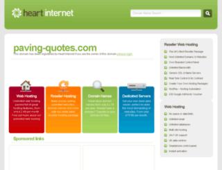 paving-quotes.com screenshot