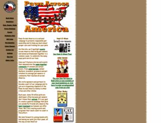 pawsacrossamerica.com screenshot
