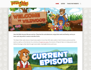 pawsandtales.org screenshot