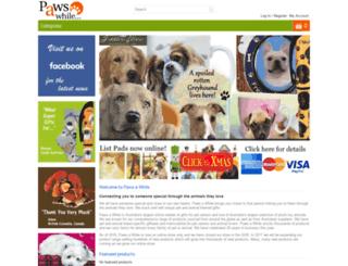 pawsawhile.com.au screenshot
