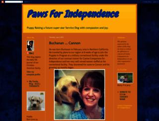 pawsforindependence.blogspot.com screenshot