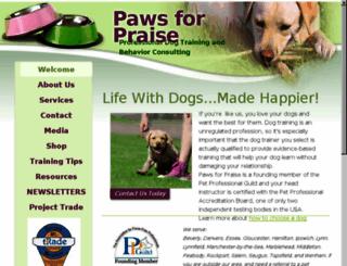 pawsforpraise.com screenshot
