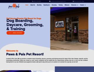 pawsresort.com screenshot
