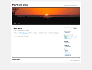 pawthut.wordpress.com screenshot