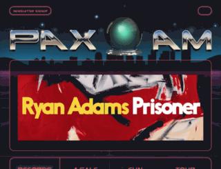 paxamrecords.com screenshot