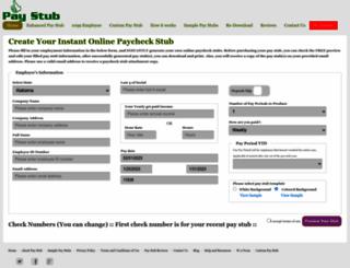 pay-stub.co screenshot