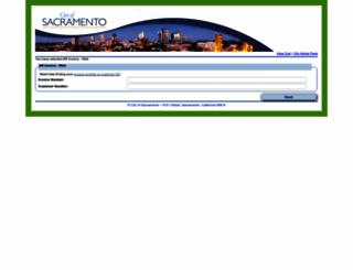 pay.cityofsacramento.org screenshot