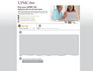 paybill.upmc.com screenshot