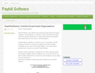 paybillsoftware.in screenshot