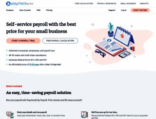 paycheckcity.com screenshot