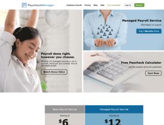 paycheckmanager.com screenshot