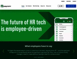 paycomonline.com screenshot
