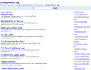 paydaycashloan.org screenshot