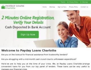 paydayloanscharlotte.net screenshot
