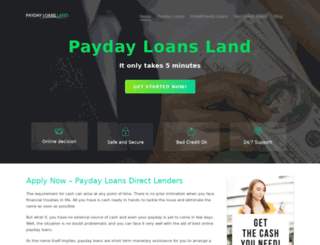 paydayloansland.com screenshot