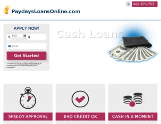 paydaysloansonline.com screenshot