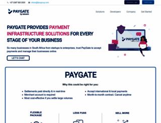 paygate.co.za screenshot