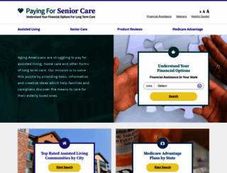 payingforseniorcare.com screenshot