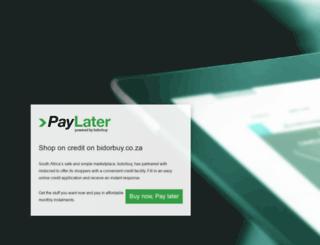 paylater.co.za screenshot