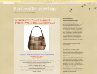 paylessdesignerbags.blogspot.sg screenshot