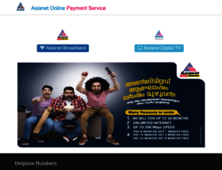 payments.asianet.co.in screenshot