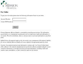 payments.missionhospitals.org screenshot