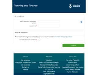 payments.sunderland.ac.uk screenshot