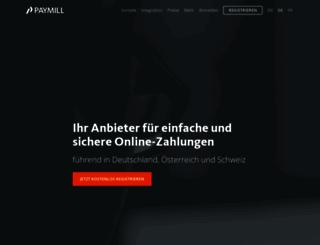 paymill.com screenshot