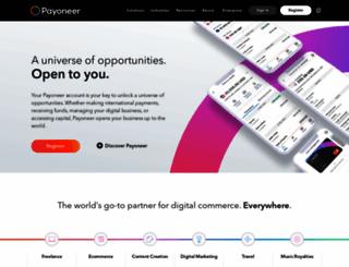 payoneer.com screenshot