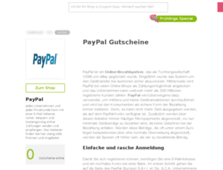 paypal.gutscheincodes.de screenshot