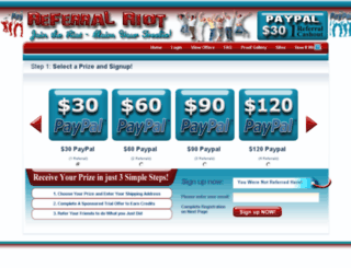 paypal.referralriot.com screenshot